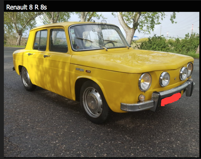 renault 8s jaune vendre 17 bric brac du net team r8. Black Bedroom Furniture Sets. Home Design Ideas